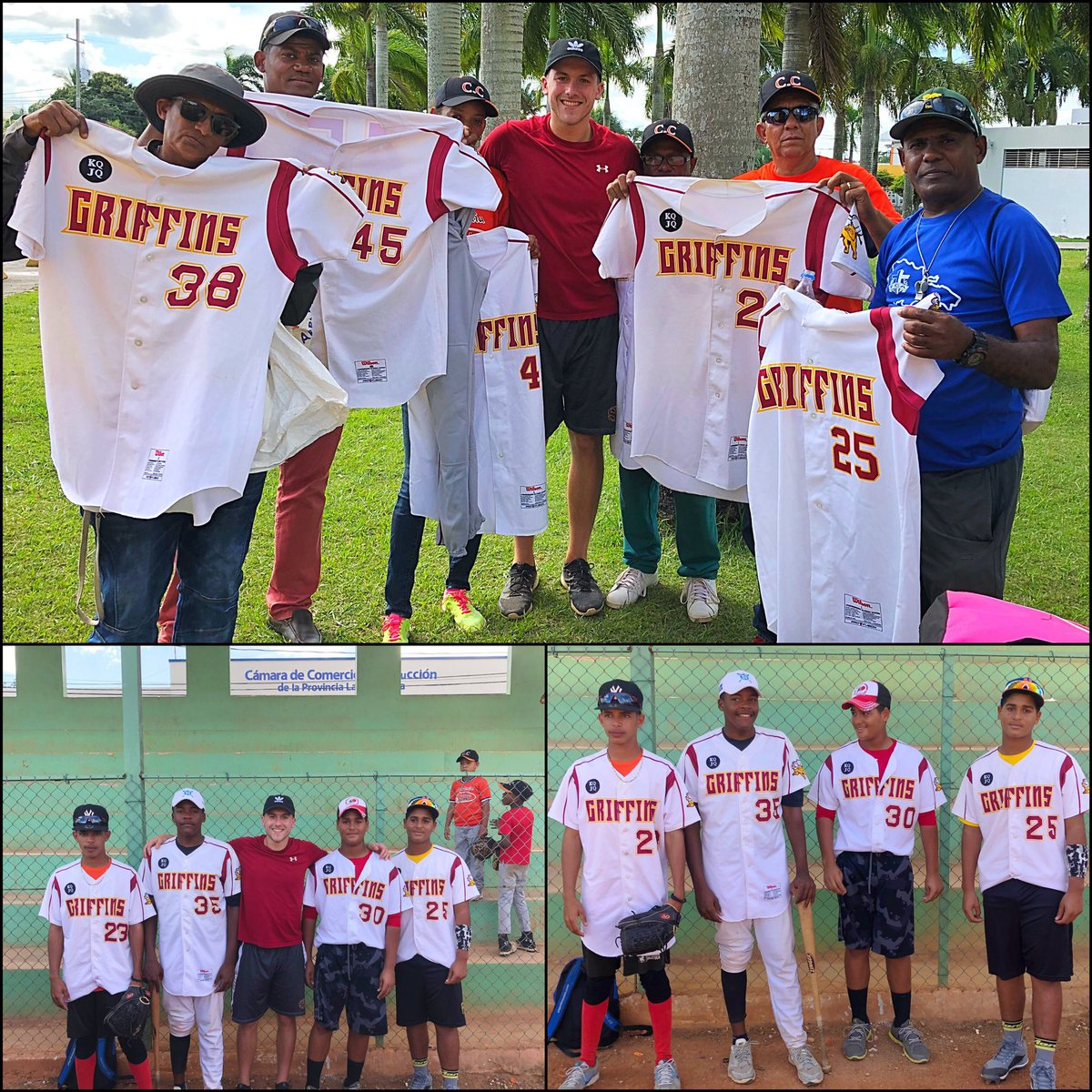 2018 grad @MP_BUCKLEY delivered some donated Griff gear to the local players on his recent mission trip to the Dominican Republic. #LookGoodPlayGood #PayItForward <br>http://pic.twitter.com/vc9liiSZM9