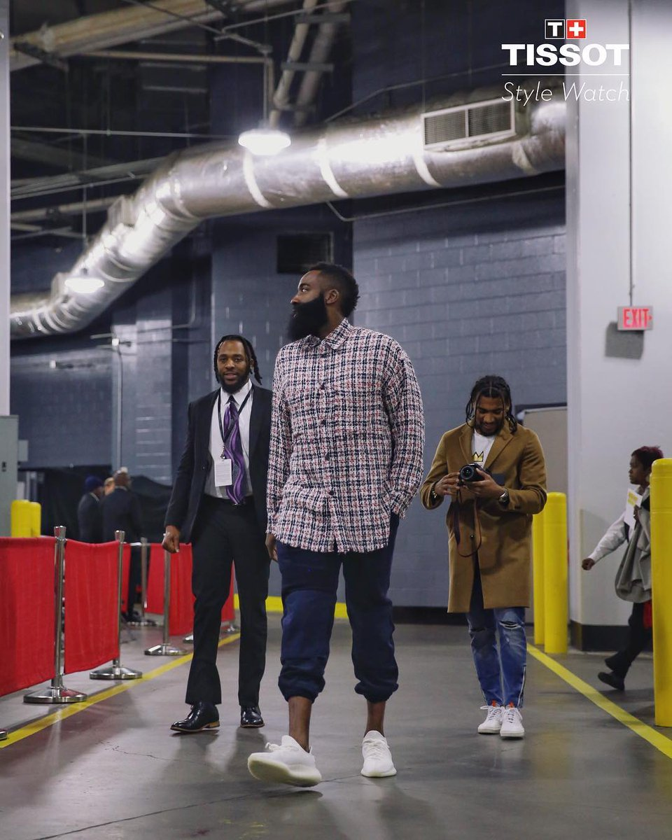 265c1f2ed8 arrival style for the houstonrockets jharden13 in yeezys pj tucker in sean  wotherspoon and kith collabs