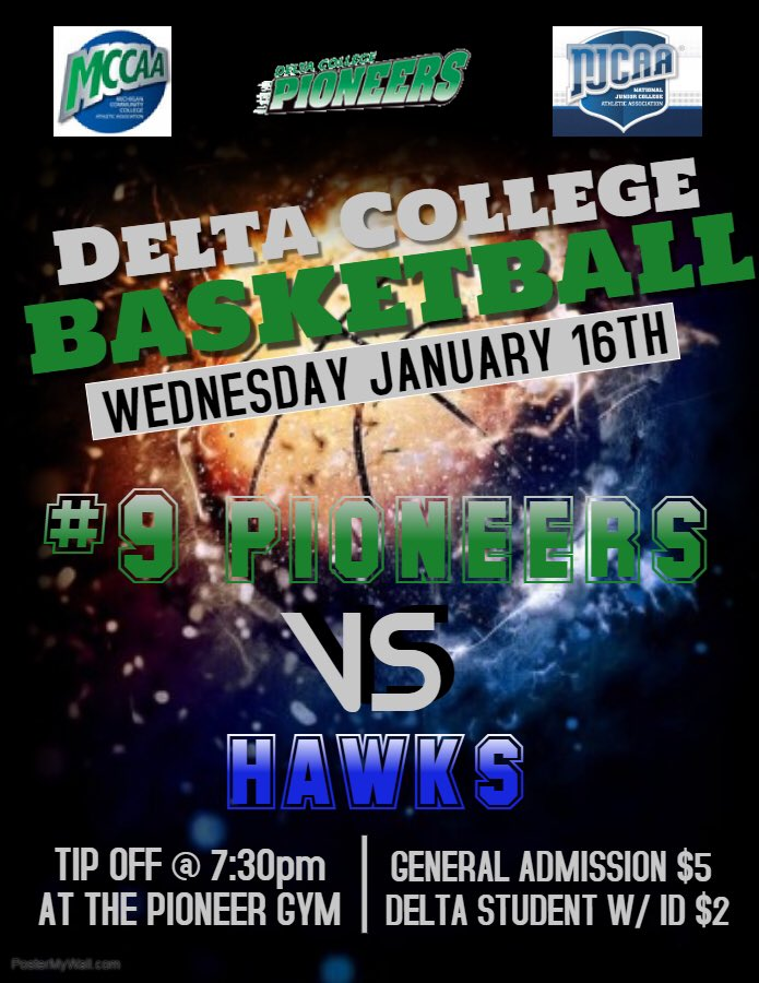 #9 Pioneers looking to bring home another win. Back in action this Wednesday, January 16 @ 7:30pm. The Hawks of Henry Ford CC next on the list. #EPIC #NEXTPLAY #PioneerPride<br>http://pic.twitter.com/Coys1TpRuP