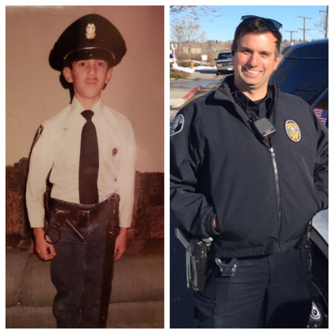 We just had to get in on the #HowHardDidAgeHitYou Challenge! Check out Agent Strube 25 years ago! Looks like even then he knew what he wanted to be when he grew up! Photo