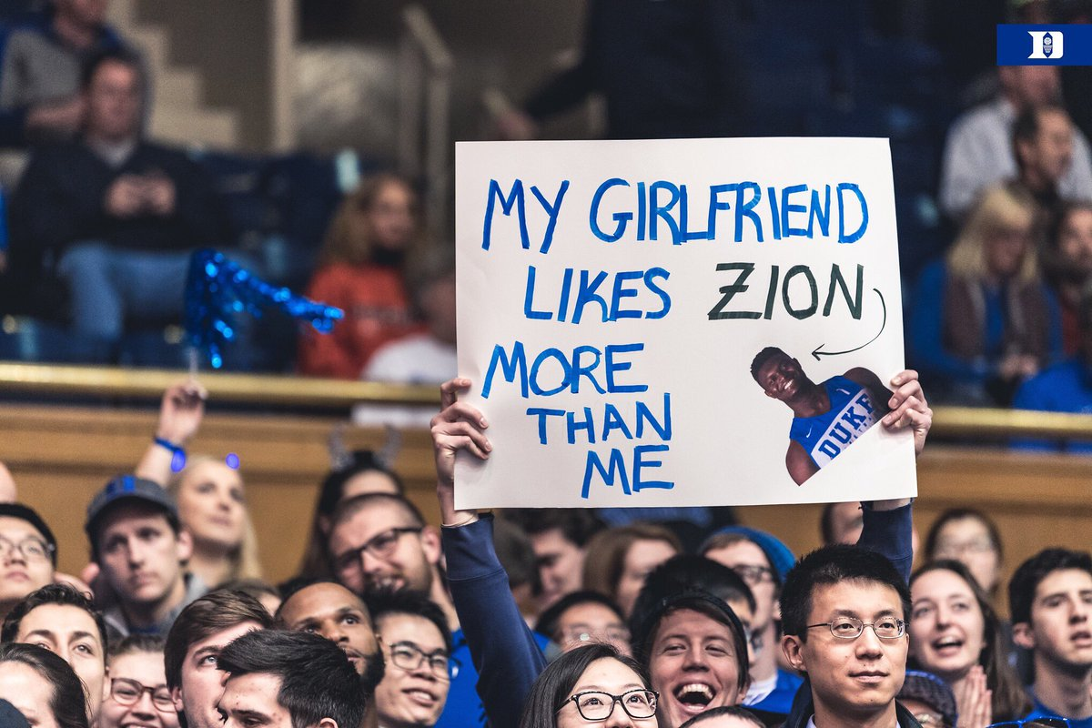 Zion came in averaging 20. He's got 20 on 8 shots at the half.