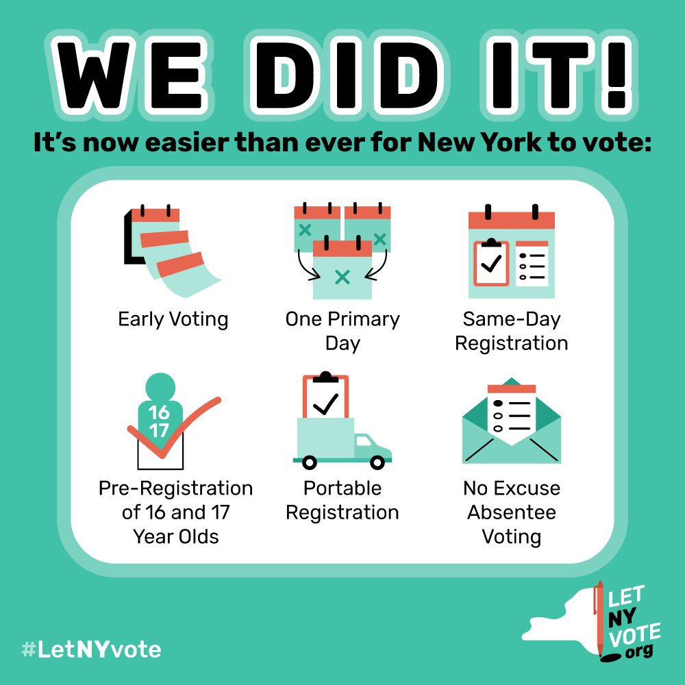Thanks to everyone who called, shared, and helped making voting easier in NYS!  #CripTheVote