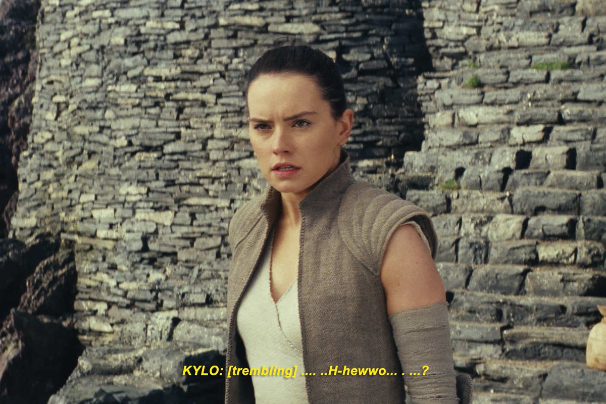 rewatching the last jedi with closed captioning. there's a lot of small details you don't normally pick up on! <br>http://pic.twitter.com/3dCiYdGTwa