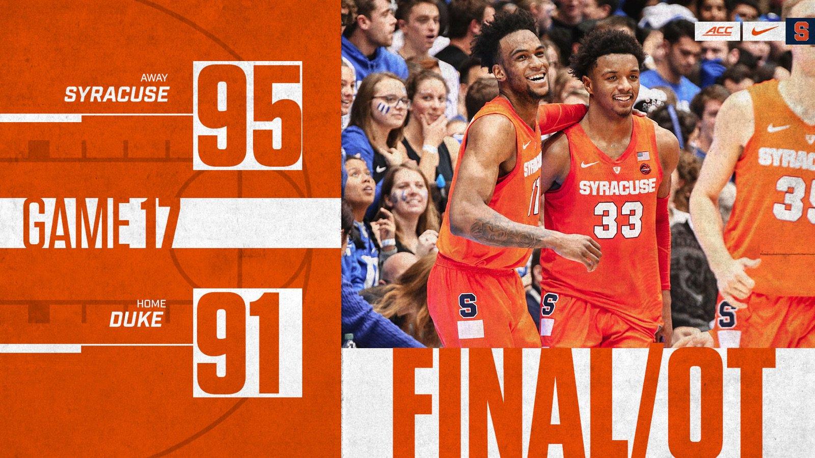 Syracuse Basketball On Twitter Final The Orange Take Down No 1