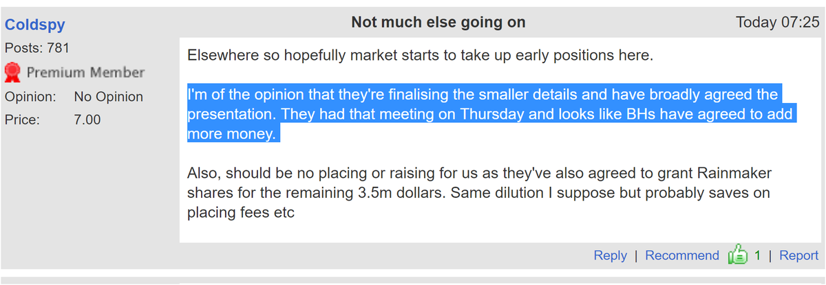 #MTMY I'm of the opinion that they're finalising the smaller details and have broadly agreed the presentation. They had that meeting on Thursday and looks like BHs have agreed to add more money. 💼💼💼💼💼💼💼💼💼💼