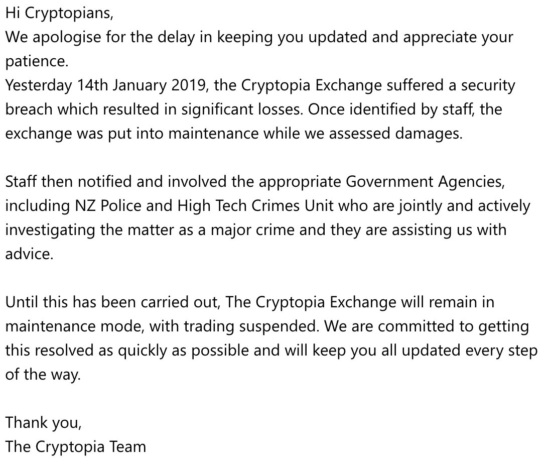 Image result for cryptopia hack