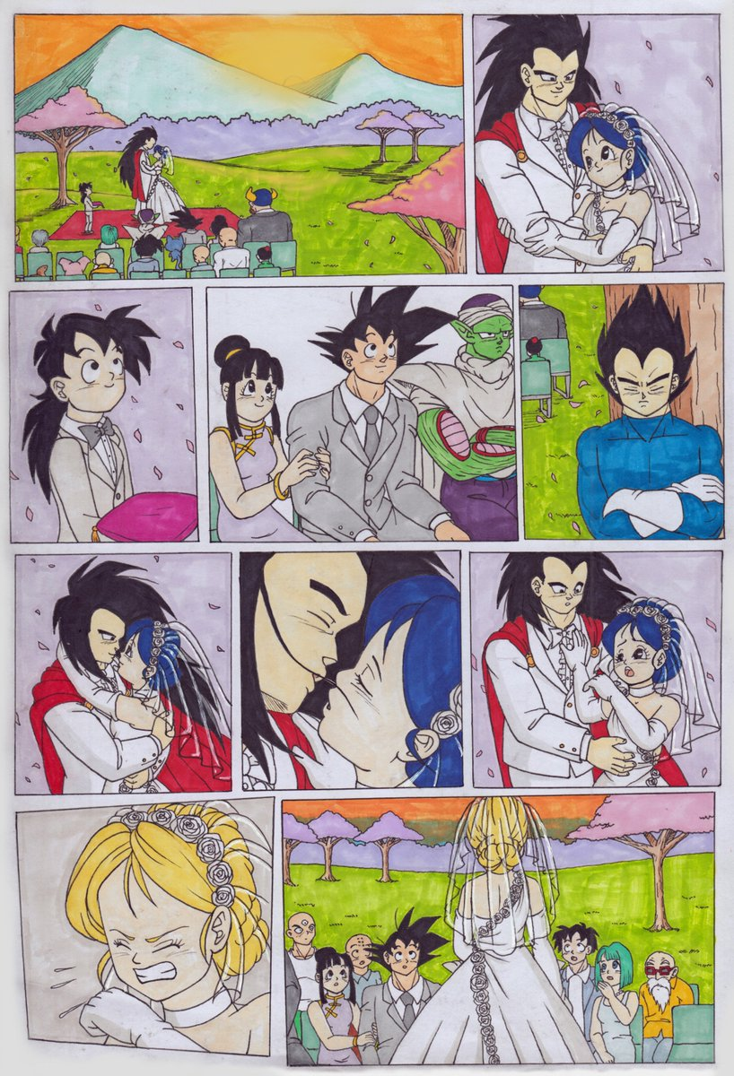 For #DragonBallRR I drew Raditz's and Launch's wedding.  A big thanks to these people who came with tips.  @JustTheClippy  @JamesAReillyMus  @SmashMaster007  @SCOnStage  @Hisagiinabox  @IamTheTrev