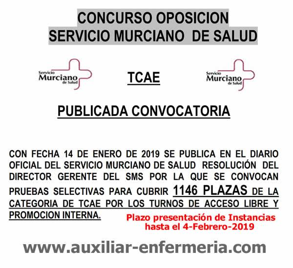 Auxiliares de Enfermería del Servicios Murciano de Salud en plazo de presentación de instancias hasta el 4-Febrero-2019... Dw77Iw-WkAEN9Bj