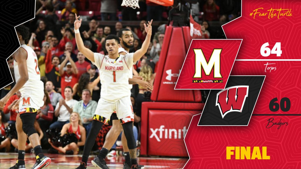 [ Final ] *deep breath*    #19 #Terps: 64 Wisconsin: 60  #FearTheTurtle