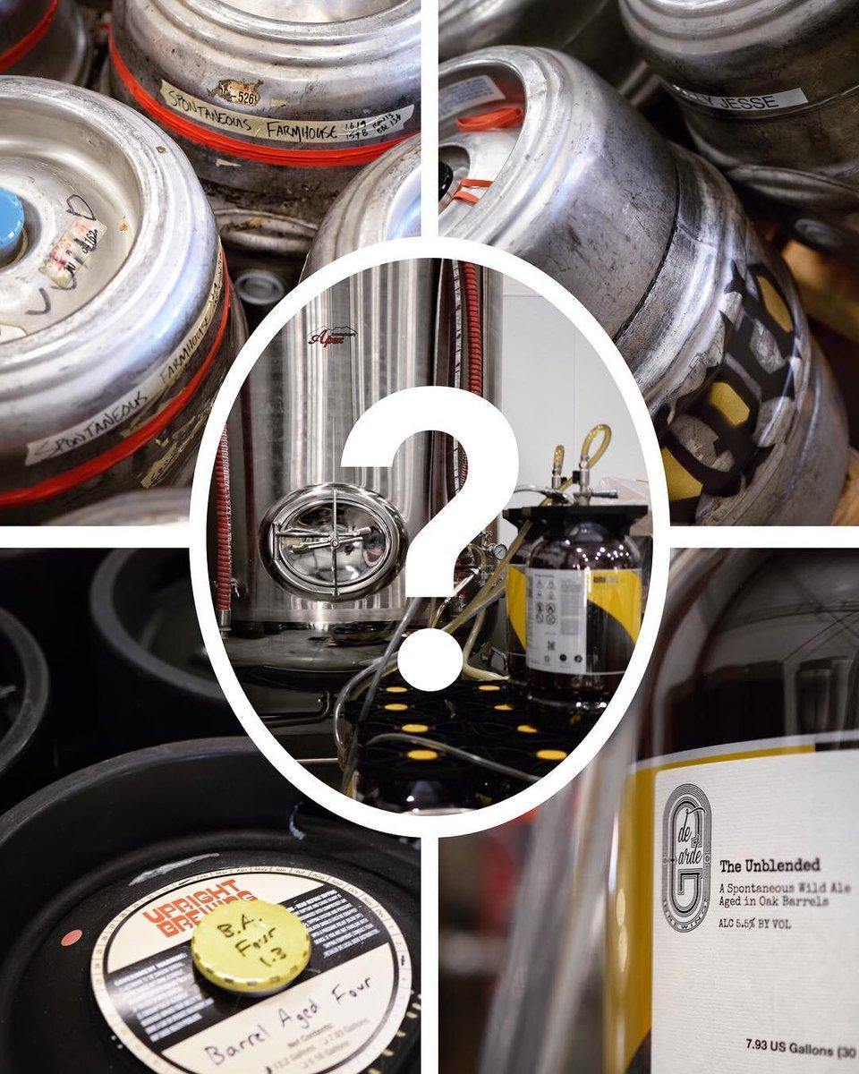 What do we have here? 🧐  #Blending #Brewing #IndependentBeer #OregonBeer #WildAle #FriendsWhoBrew #BrewersWhoFriend #CollaborationBeer @UprightBrewing @DeGardeBrewing @drugstorebrewer