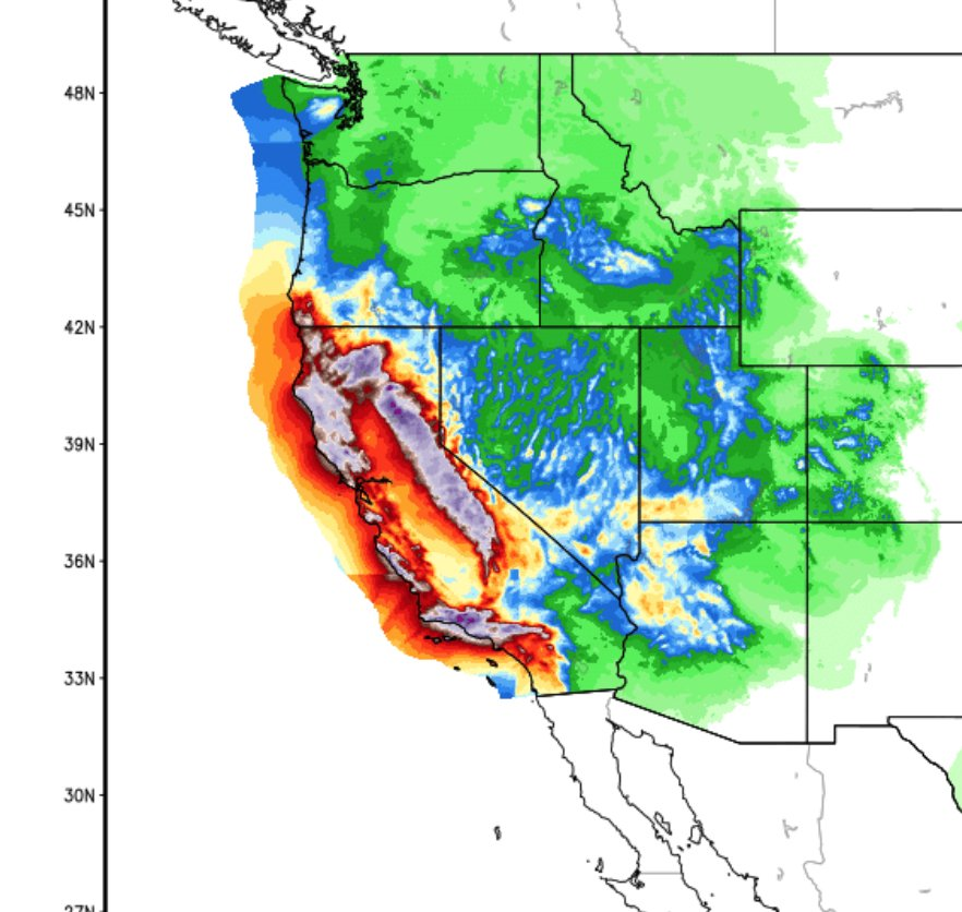 6.71 trillion gallons inbound to California through Thursday afternoon NDFD precip estimate #CAwx