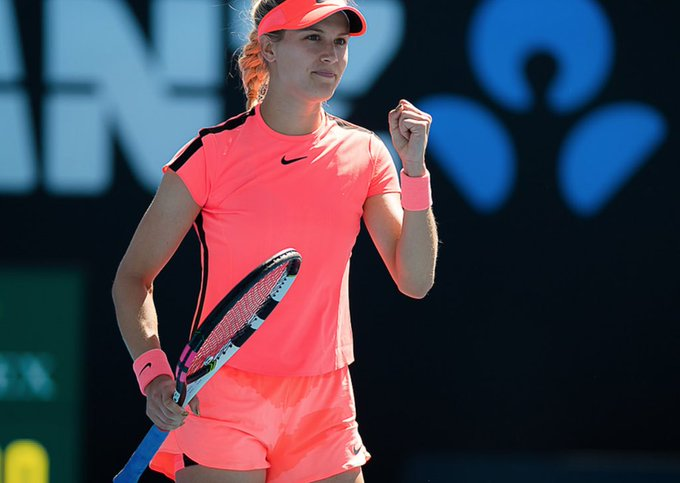 Muy buen estreno de Eugenie Bouchard en el Australian Open 2019. La canadiense venció a Shuai Peng 6-2 6-1 y avanzó a segunda ronda del primer Grand Slam del año 🔥 Photo