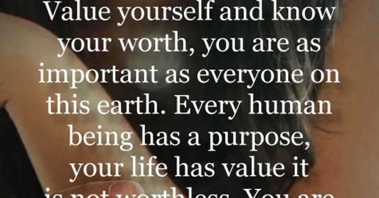 Inspirational Quotes On Twitter Value Yourself And Know Your Worth