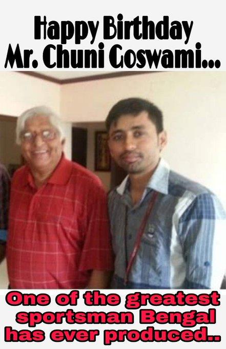 Happy Birthday Padmasree Chuni Goswami
