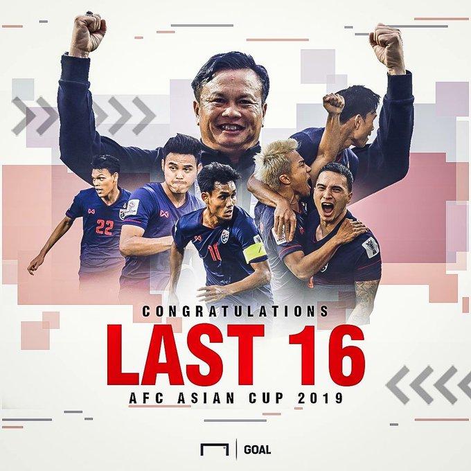 ขอแสดงความยินดีกับทีมชาติไทยที่ได้ผ่านเข้าไปรอบ 16ทีมสุดท้ายของเอเชีย เป็นครั้งแรกในรอบ 47ปีขอขอบคุณนายกสมาคมฟุตบอลไทยทีมงานโค้ชและนักฟุตบอลทุกคนที่ทำให้พวกเรามีความสุขในฐานะแฟนบอลไทยรู้สึกดีใจมากๆครับความรู้สึกของผมเวลานี้คือเราเข้าใกล้คำว่าฟุตบอลโลกเข้าไปทุกทีแล้ว 🎉👊💪😎 ภาพถ่าย