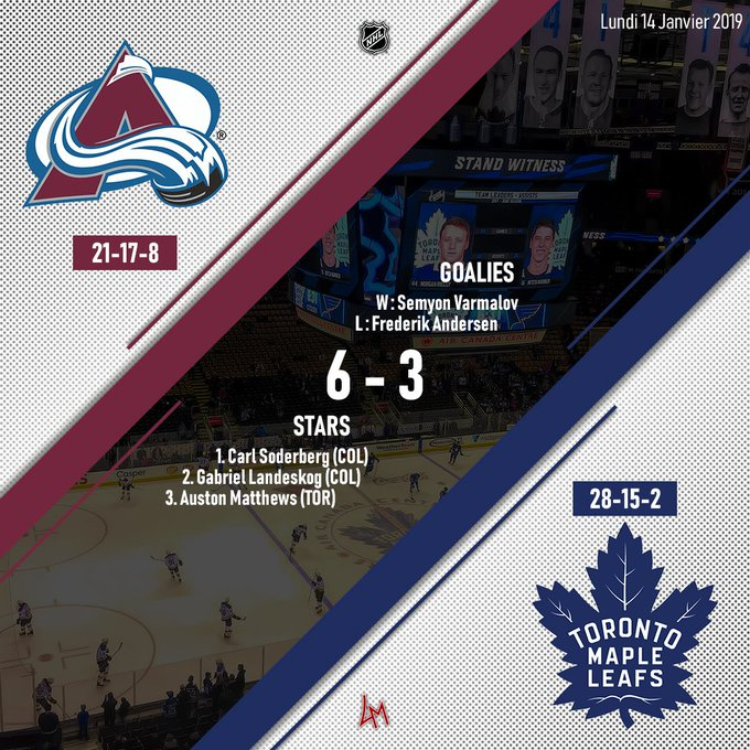 🏒📋NHL // Avalanche-Maple Leafs #GoAvsGo | 6 #LeafsForever | 3 Photo