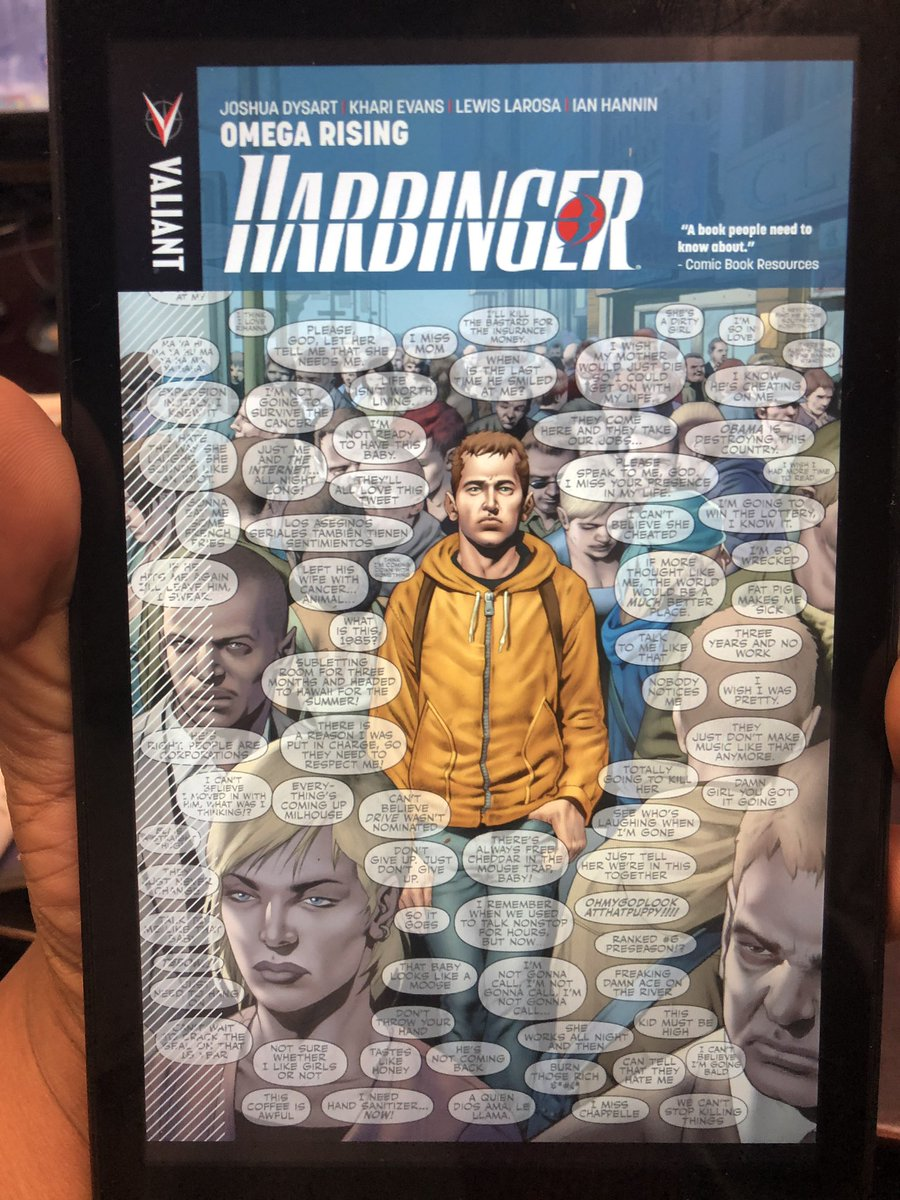 At work reading @ValiantComics #Harbinger vol. 1 getting ready for the big Life & Death event!