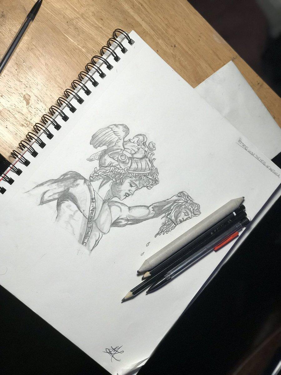 Perseus🐍 #drawing #greekmythos #selftaught