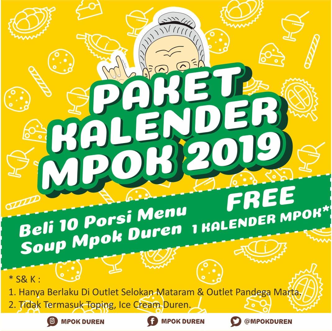 Promo : Paket Kalender Mpok 2019