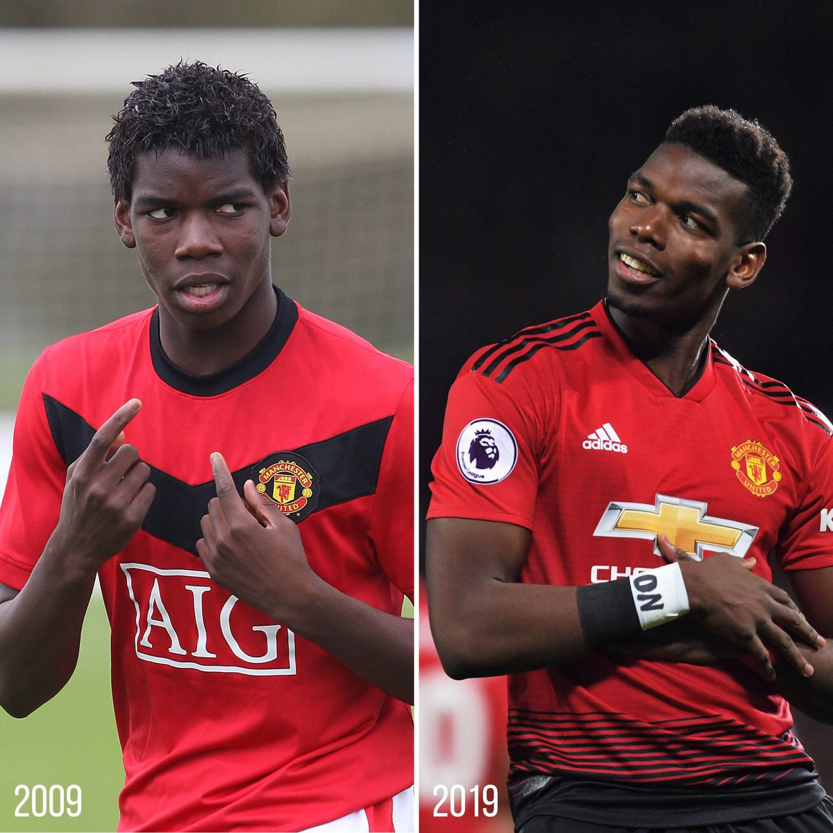 Let's take a #Pogback in time... 😄   #10YearChallenge @PaulPogba #MUFC