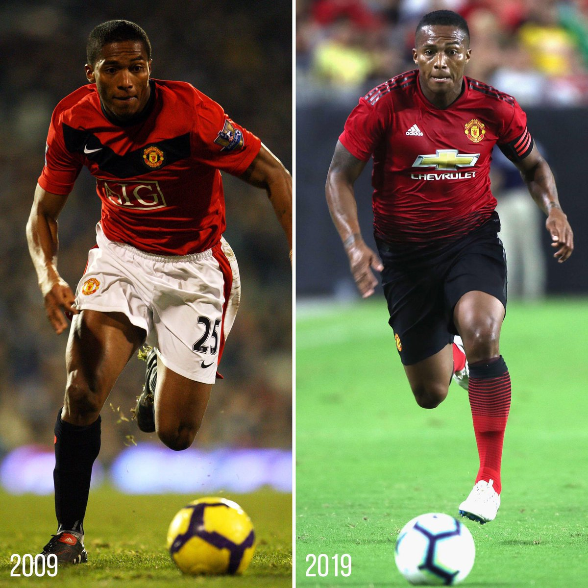 You haven't changed a bit, @Anto_V25 😉 #10YearChallenge #MUFC