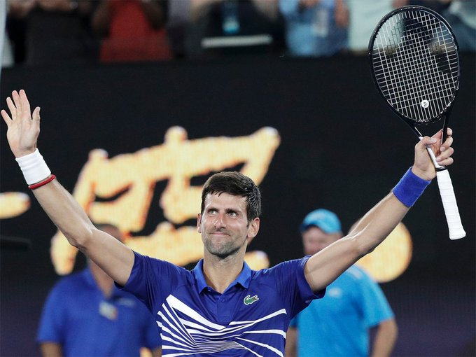 #AusOpen #AustralianOpen2019 @DjokerNole begins seventh @AustralianOpen title bid with romp READ: Photo