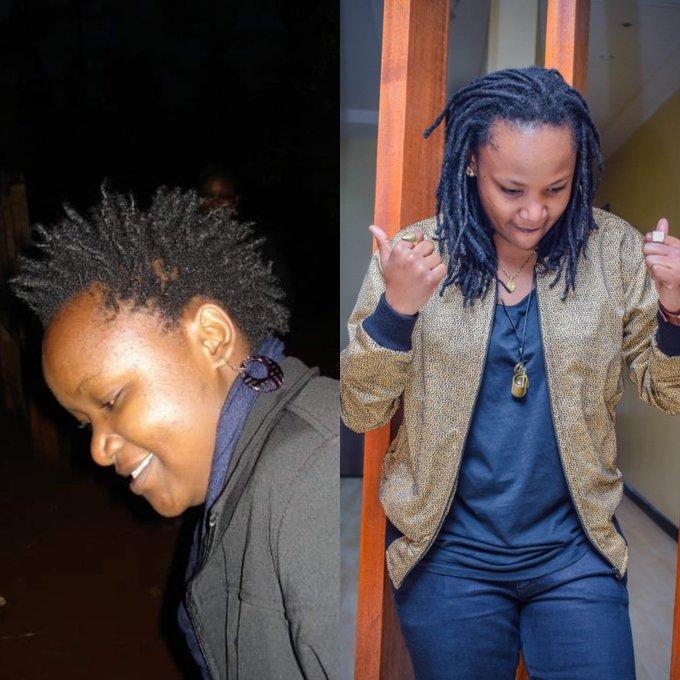 Nywele paka mafutaaaa @Marini_Naturals #10yearchallenge. 😁 Photo