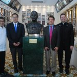 Image for the Tweet beginning: Three Vincentian university presidents visited