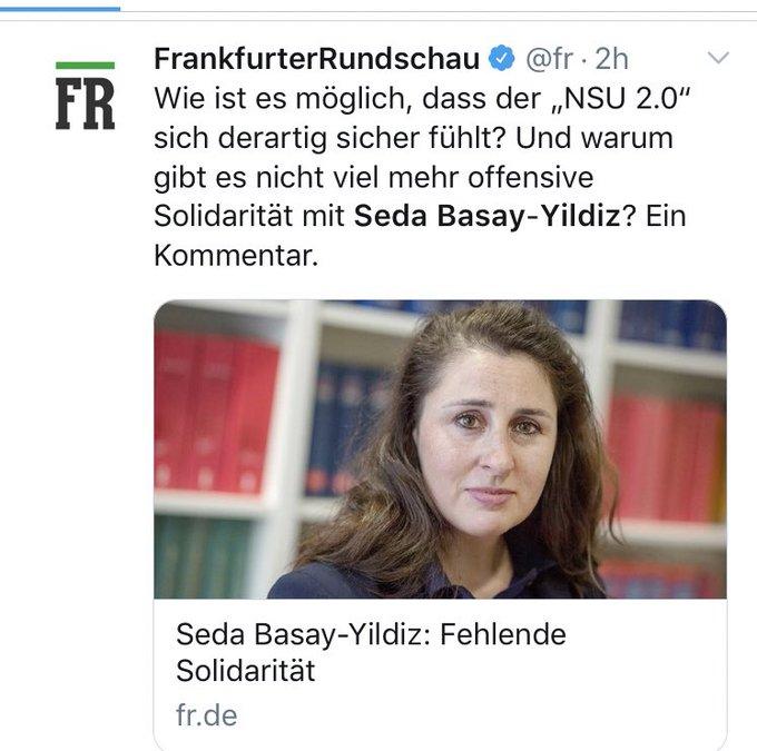 3 Praktische Schritte für mehr Solidarität mit Seda Basay-Yildiz: Gute Ermittlungen gegen den #NSU20 - Noch mehr demokratisches Engagement von Polizistinnen und Polizisten, Anwältinnen und Anwälten und klare Kante vom Bundesinnenminister!(2 müssen klappen) Foto