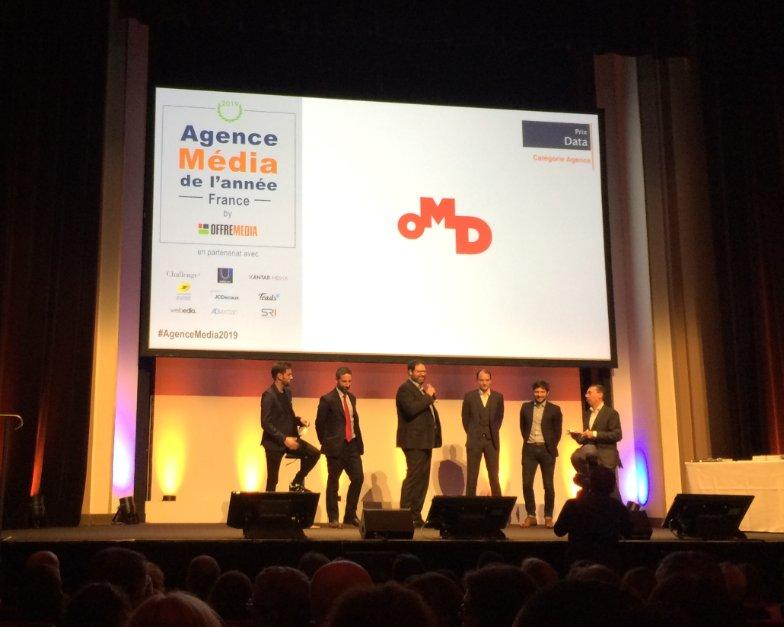 @OMD_France remporte le prix DATA #AgenceMedia2019 https://t.co/F2v2eHf8AD