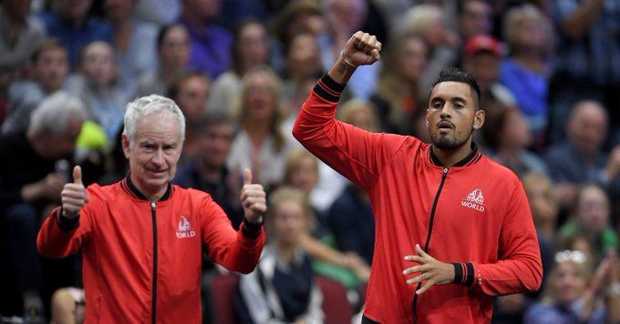 John McEnroe commentating Nick Kyrgios. What a time to be alive. #AusOpen Photo