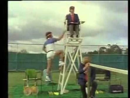 Listening to McEnroe commentating the tennis last night reminded of this legend ... John McEnhoges 🤣😂#AustralianOpen2019 via @YouTube Photo