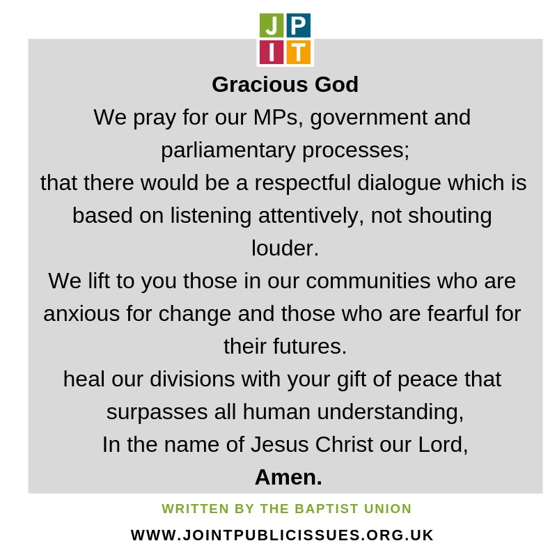 This prayer seems as relevant today as it did yesterday...