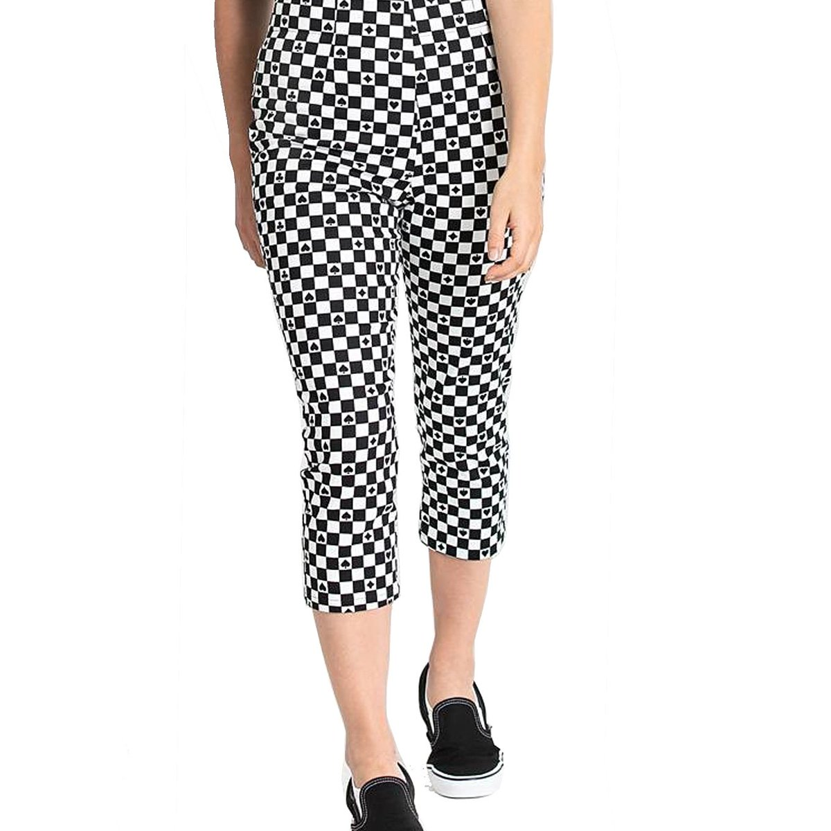 Hell Bunny Pokerface Capris //White