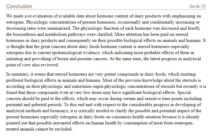 We have all heard milk is a source of calcium and vitamin D. But what else is in that milky white glass of mammalian lacteal secretion? Mammalian hormones of course. These hormones cause biologic effects in humans which are not good. #Ditchdairy go #vegan.  https://www. ncbi.nlm.nih.gov/pmc/articles/P MC4524299/ &nbsp; … <br>http://pic.twitter.com/P06oyWJyQV