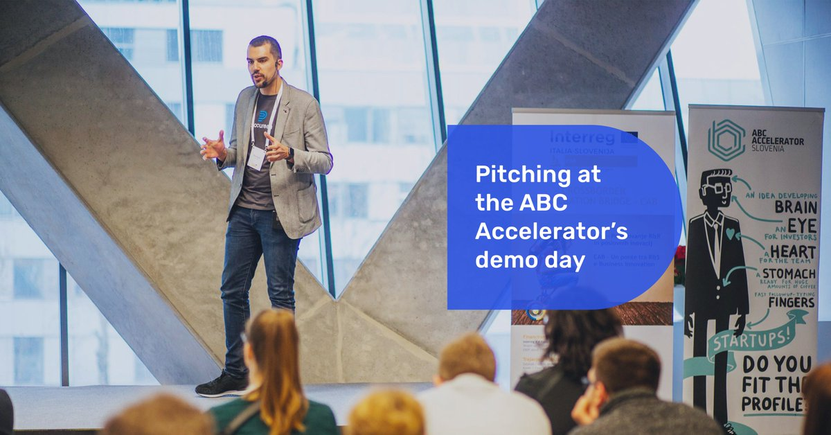Žiga did an excellent job with the public pitch at the @abc_accelerator's demo day with which we completed the first half of the CAB program in Ljubljana. The other half will take place in Italy. 🇮🇹 Listen to the pitch ➡ https://t.co/a7pzeus7h9 https://t.co/UpSZZi7hyj