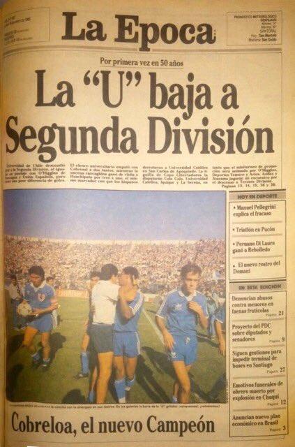 Portada del diario La Época del 16 de enero de 1989.