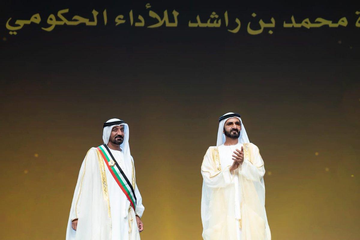 وشاح صاحب السمو الشيخ محمد بن راشد وسام على صدري، وحافز لي على العمل لبلوغ آفاق أعلى من التقدم والتميز. https://t.co/dAXRBFom7i