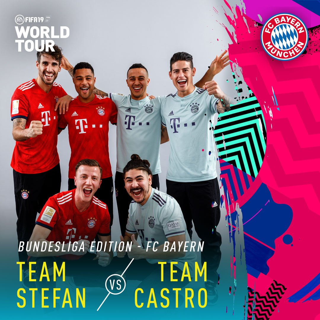 No red cards. No offsides. No fouls. NO RULES! @FCBayern team up with @Castro1021 for some #FIFA19! @Bundesliga_EN