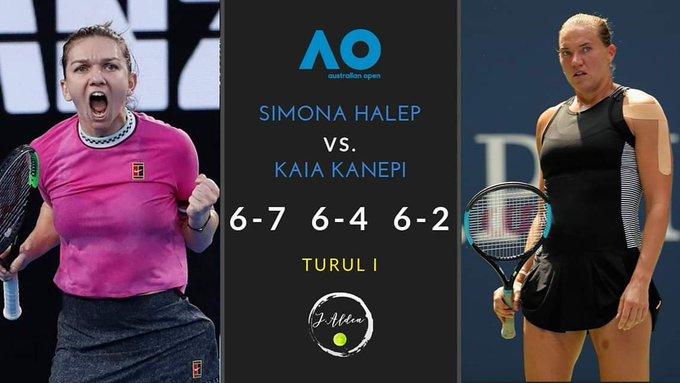 VICTORIE!!! Simona Halep se califică în turul doi la Australian Open după un meci cu adevărat EPIC! În continuare, liderul mondial din WTA o va întâlni la Melbourne pe Sofia Kenin, locul 37 WTA! Photo