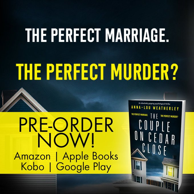 PRE ORDER NOW! @annaloulondon The Couple on Cedar Close: An absolutely gripping psychological thriller! Out Jan 18th - pre order here: Amazon: Apple Books: Kobo: Googleplay: Фото