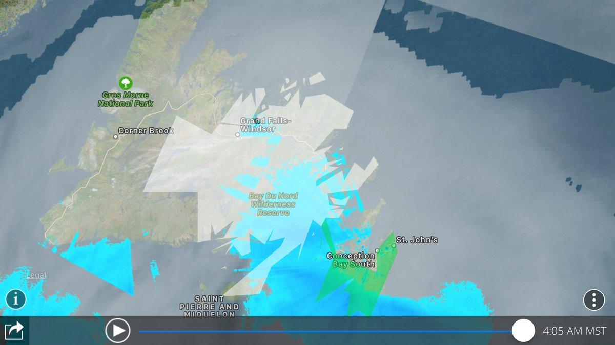 Winter Storm Warning for Gander, Terra Nova and Clarenville Newfoundland 30-40cm, Snowfall Warning for Grand Falls Windsor 15-20cm. Rainfall Warning for St. John's 20-35mm #nlwx<br>http://pic.twitter.com/yD5xJNspoJ