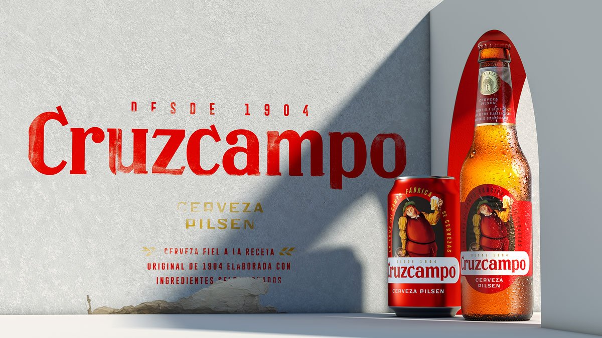 Cruzcampo has hit the press! #branding #packaging #design
