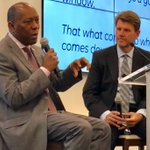 """Sylvester Turner speaks to Boulevard Realty's annual meeting. On parks: """"On the east side of the GRB, a new park will hold about 100k people. But I have a close affinity to neighborhood parks. Those are the parks that can change a community."""""""