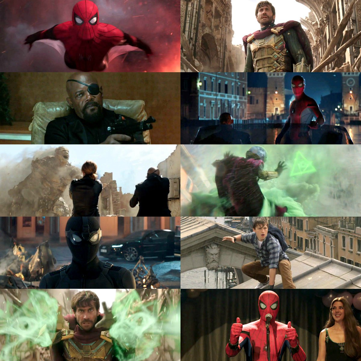 Spider-Man, Mysterio, and Nick Fury unite in the new trailer for #SpiderManFarFromHome