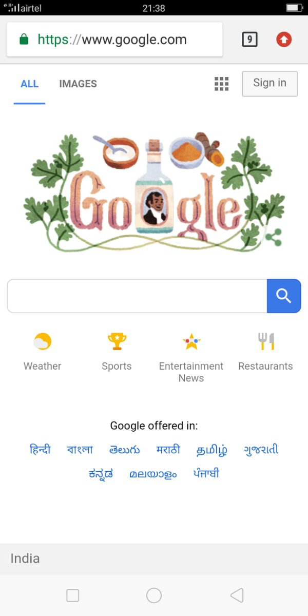 We thank @Google for its #GoogleDoodle today on #Patna born Sake Dean Mahomed, first Indian author to publish a book in English and owner of first Indian restaurant in England.   बिहार वासियों के लिए यह एक अनूठा तोहफा है। बहुत धन्यवाद।  #PrideofBihar<br>http://pic.twitter.com/P81t4MdZkh