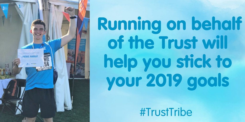 Archie joined the #TrustTribe in the @Great_Run last year 🙌 He ran in memory of his cousin Eddie who benefitted greatly from Trust trips! Knowing you're running on behalf of young people in recovery from cancer will keep you motivated to stick to your goals!