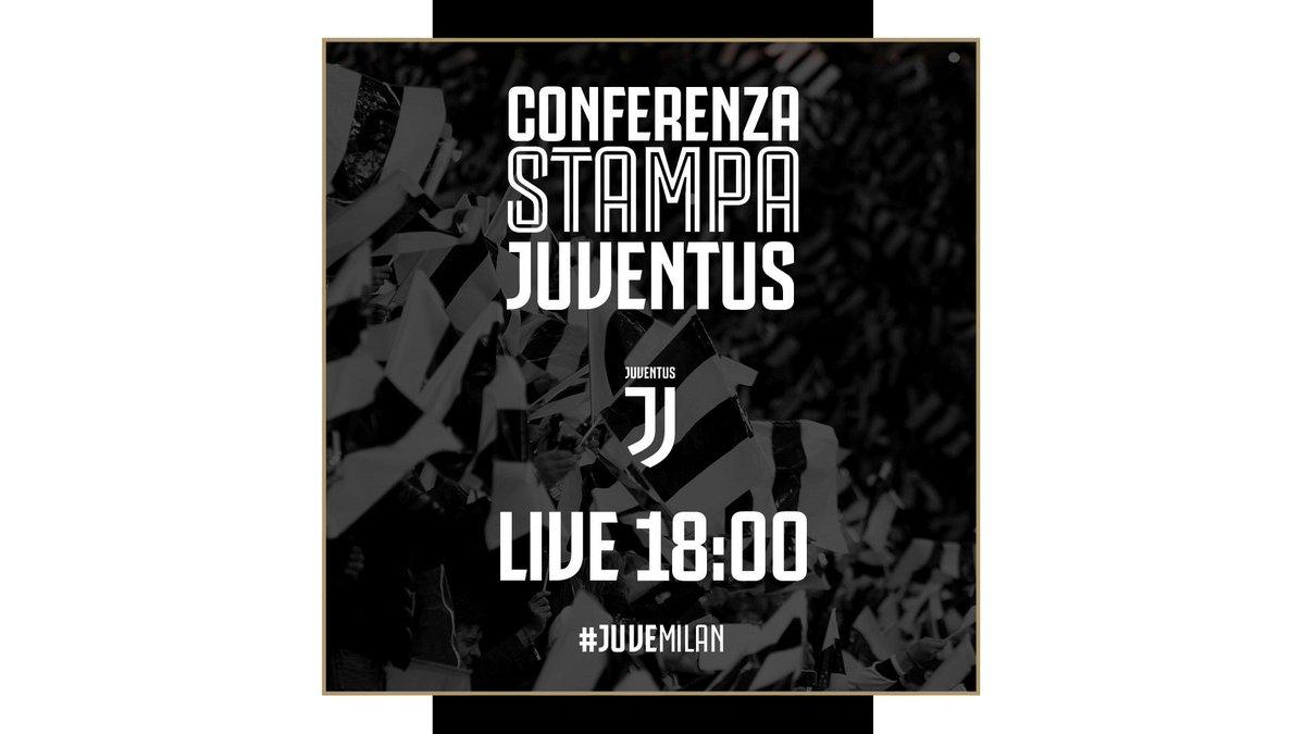 Comincia ora la conferenza stampa 🎙️di @OfficialAllegri e @chiellini  #LIVE 📡 su ➡️ http://pass.juventus.com  ⚪️⚫️ #ForzaJuve #Supercoppa #JuveMilan