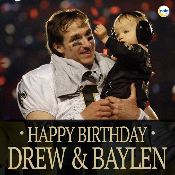Did you know Drew Brees shares a birthday with his son, Baylen? Happy birthday, Drew and Baylen!