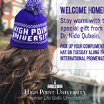 Welcome home, students! Be sure to pick up a gift from Dr. Nido Qubein today along the Promenade.